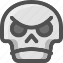 angry, avatar, death, emoji, face, skull, smiley