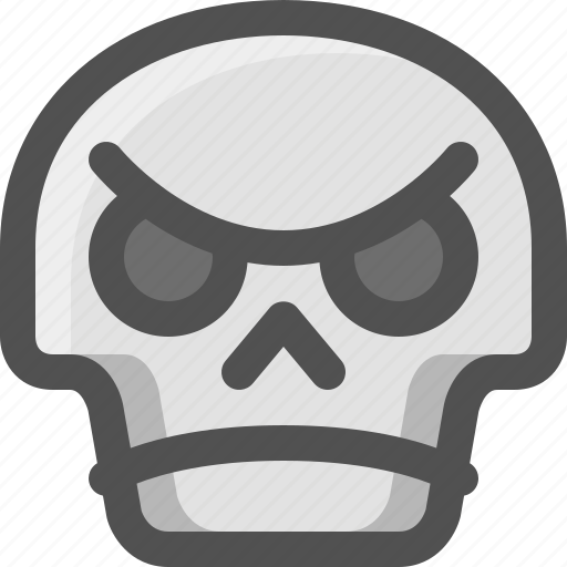 Angry, avatar, death, emoji, face, skull, smiley icon - Download on Iconfinder