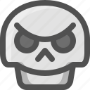avatar, bad, death, emoji, face, skull, smiley