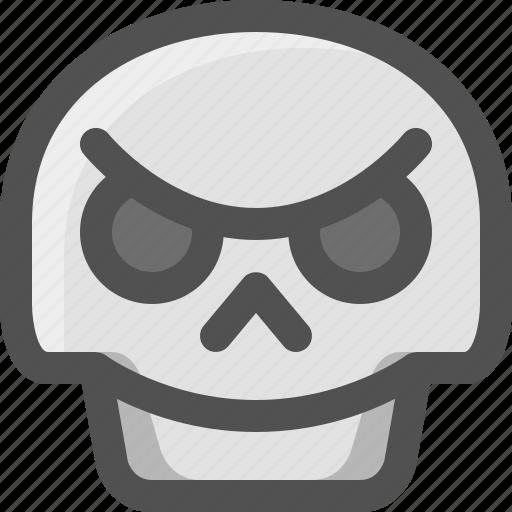 Avatar, bad, death, emoji, face, skull, smiley icon - Download on Iconfinder