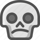 avatar, confused, death, emoji, face, skull, smiley