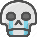 avatar, crying, death, emoji, face, skull, smiley