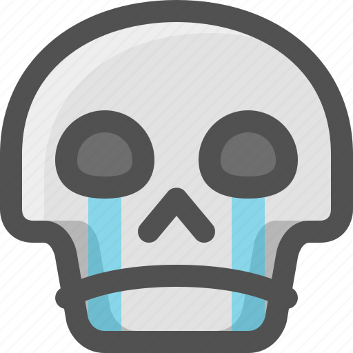 Avatar, crying, death, emoji, face, skull, smiley icon - Download on Iconfinder