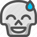 avatar, death, embarassed, emoji, face, skull, smiley