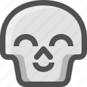 avatar, death, emoji, face, glad, skull, smiley icon