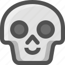 avatar, death, emoji, face, happy, skull, smiley
