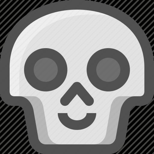 Avatar, death, emoji, face, happy, skull, smiley icon - Download on Iconfinder
