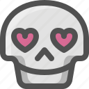 avatar, death, emoji, face, kiss, like, love, skull, smiley