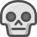 avatar, death, emoji, face, neutral, serious, skull, smiley