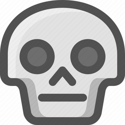Avatar, death, emoji, face, neutral, serious, skull icon - Download on Iconfinder