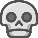 avatar, confused, death, emoji, face, sad, skull, smiley, upset