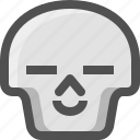 avatar, chill, death, emoji, face, happy, relax, satisfied, skull, smiley
