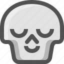 avatar, chill, death, emoji, face, relax, satisfied, skull, smiley