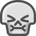 avatar, death, emoji, face, pain, sick, silence, skull, smiley