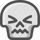 atonished, avatar, death, emoji, face, skull, smiley, stunned