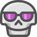 avatar, bad, death, emoji, face, glasses, skull, smiley, sunglasses, vacations
