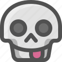 avatar, death, emoji, face, funny, skull, smiley, tongue