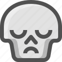 avatar, death, emoji, face, sad, skull, smiley, upset