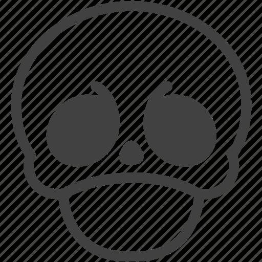 crabby, face, skull icon