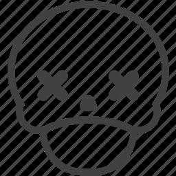 avatar, dead, emoji, emotion, expression, face, skull icon