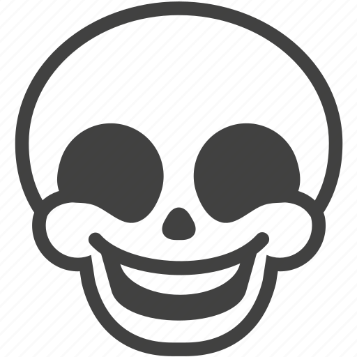 emotion, face, happy, laugh, skull, smile, smiley icon