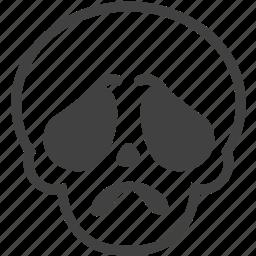 emoji, emotion, face, gloomy, sad, skull, sorry icon
