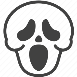 cry, emoji, face, halloween, scream, shout, skull icon