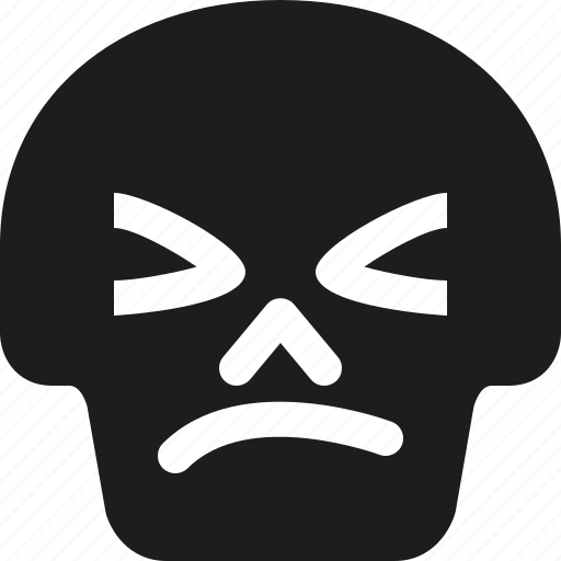Angry, avatar, death, emoji, face, skull icon - Download on Iconfinder