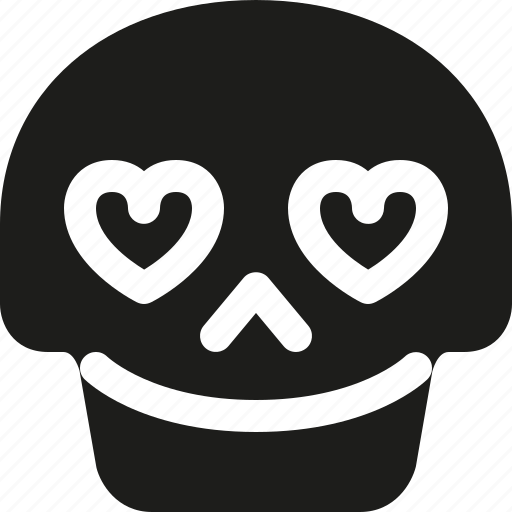 avatar, death, emoji, face, in, love, skull icon