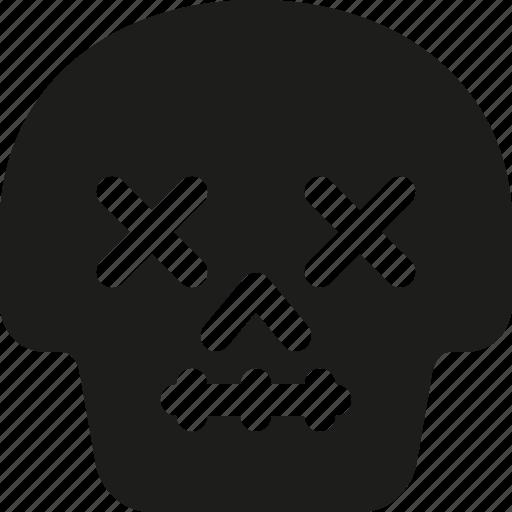 Avatar, death, emoji, face, lifeless, skull icon - Download on Iconfinder