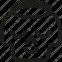 angel, avatar, death, emoji, face, skull, smiley