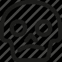 avatar, confused, death, emoji, face, skull, smiley icon