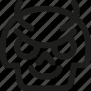 avatar, death, devil, emoji, face, skull, smiley icon