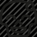avatar, death, embarassed, emoji, face, skull, smiley