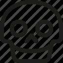 avatar, death, emoji, face, happy, skull, smiley