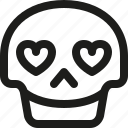 avatar, death, emoji, face, in, love, skull, smiley icon