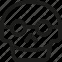 avatar, death, emoji, face, nerd, skull, smiley