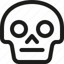 avatar, death, emoji, face, neutral, skull, smiley