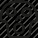 avatar, death, emoji, face, scream, skull, smiley