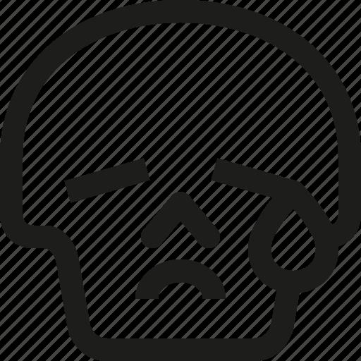 Avatar, death, emoji, face, skull, smiley, tear icon - Download on Iconfinder