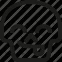 avatar, death, emoji, face, skull, smiley, tongue icon