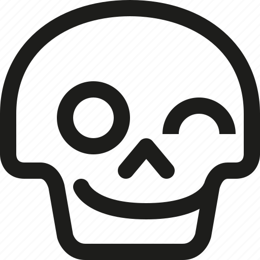 Avatar, death, emoji, face, skull, smiley, wink icon - Download on Iconfinder