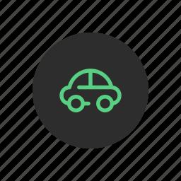 automobile, car, city, mobility, rental, small, smart icon
