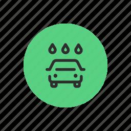 auto, car, rain, wash, washing, water, wet icon