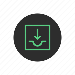 backup, data, download, downloading, receive, storage, store icon