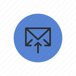 email, mail, outbox, outgoing, send, sending icon