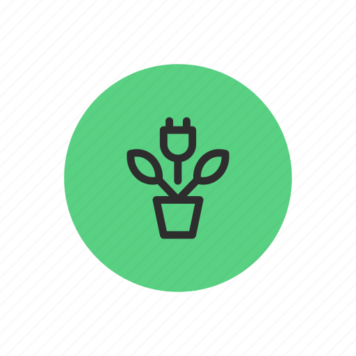 clean, eco, electricity, energy, green, plug icon