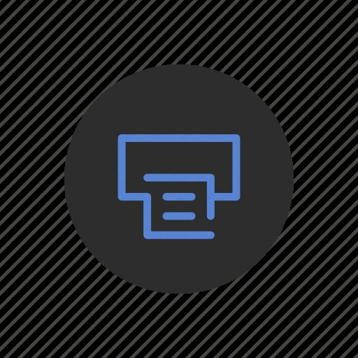 document, office, paper, print, printer, printing icon
