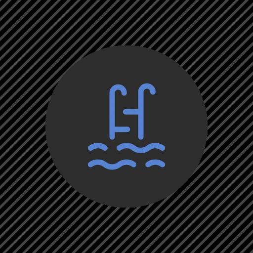fun, pool, summer, swimming, vacation, water icon
