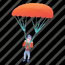 man, parachuter, person, professional, sport